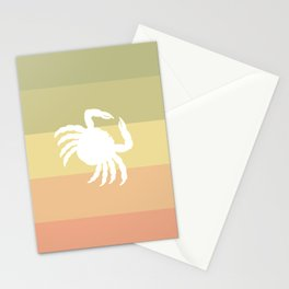 Out At Sea Series - Sideways and Crabby Stationery Cards