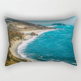 California Coastline Dreaming Rectangular Pillow
