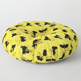 Yellow Shadow Puppets Floor Pillow