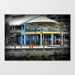 Foreshore cafe - Geelong Canvas Print