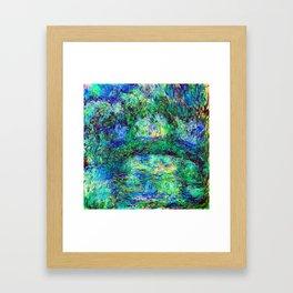 Claude Monet Japanese Bridge Framed Art Print