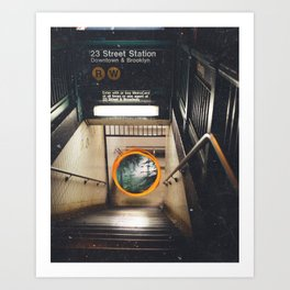 New York City Subway Portal to the Forest Art Print