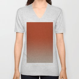 Color Fade, Ombre, Background Color Change Unisex V-Neck