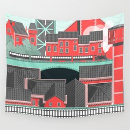 Townscape Wall Tapestry