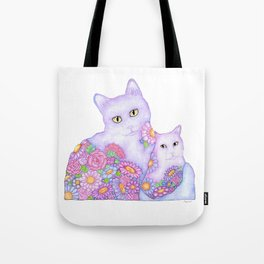 Bart and Clay - A Portrait of Two Cats  Tote Bag