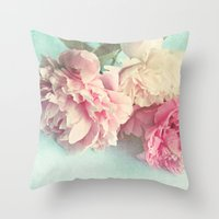monika strigel Throw Pillows featuring like yesterday by Sylvia Cook Photography