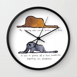 Monoprinting Le Petit Prince Wall Clock