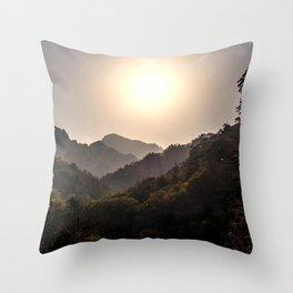 Sunset at Seoraksan Throw Pillow