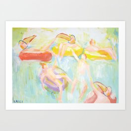 The Waterfall Party Art Print