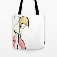 girl power Tote Bags featuring Girl Power by Juan I. Scocozza