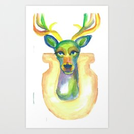Rainbow Deer Art Print