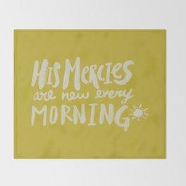 Mercy Morning x Mustard Throw Blanket