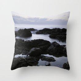 On the Rocky Shores Throw Pillow
