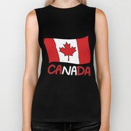 Canadian Flag Canada Gift Biker Tank