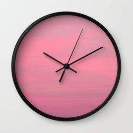 Pink sunset sky Wall Clock