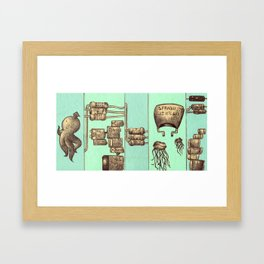 The Squid and The Capacitor Framed Art Print