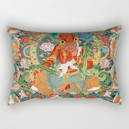 21 Taras Thangka Samantabhadra Varayogini Rectangular Pillow