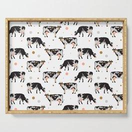 Cow Pattern | Cow Spots Farm Farmer Animal Milk Serving Tray