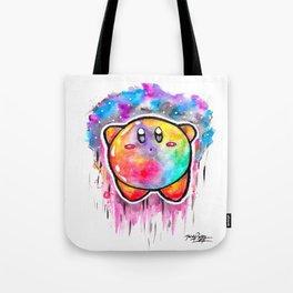 Cute Galaxy KIRBY - Watercolor Painting - Nintendo Tote Bag