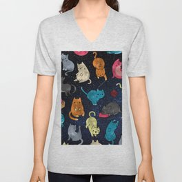 Space cats Unisex V-Neck
