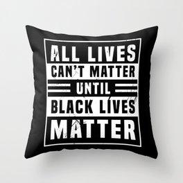 Black Lives Matter Power Anti Rac BLM Throw Pillow
