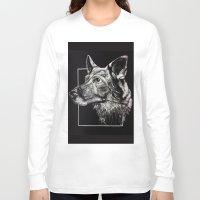 german shepherd Long Sleeve T-shirts featuring German Shepherd by Ashley Anderson