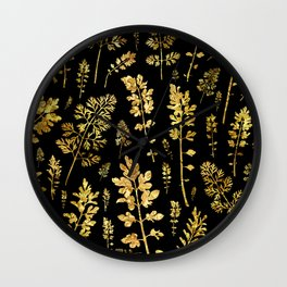 parsley of gold Wall Clock