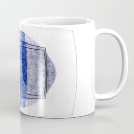 Blue and Red (with elipse and square) Coffee Mug