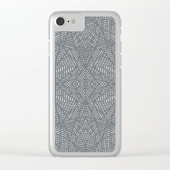 Ab Lace Black and Grey Clear iPhone Case