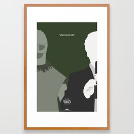 """Doctor Who 50th Anniversary Posters - """"The 2nd Doctor"""" Framed Art Print"""