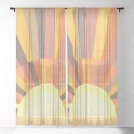 Retro Sun 2 Sheer Curtain