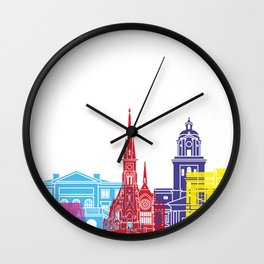 Gothenburg skyline pop Wall Clock