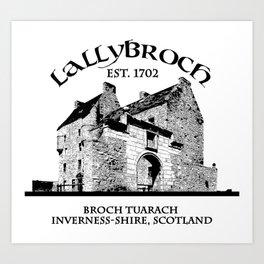 Lallybroch Outlander Art Print