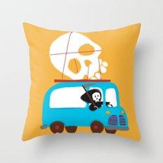 Death on wheels Throw Pillow