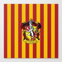 gryffindor Canvas Prints featuring Gryffindor - Hogwarts  by Kesen