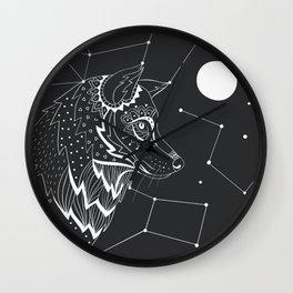 Wolf constellations Wall Clock