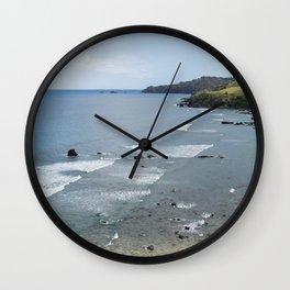 Punalau Beach, Maui Wall Clock