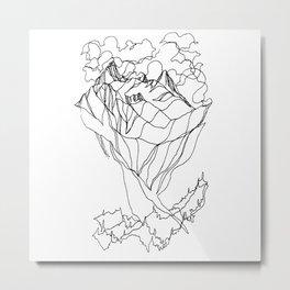 Peak and Valleys Metal Print