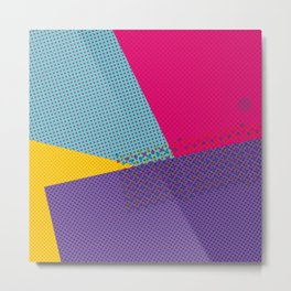 Colorblock - geometric minimal Metal Print