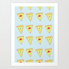 Happiness Is Pizza Art Print