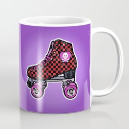 80s roller skates checkered Coffee Mug