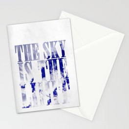 The sky is the limit B Stationery Cards