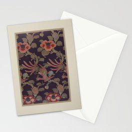 Verneuil - Japanese paper and fabric designs (1913) - 37: Birds and camellias Stationery Cards