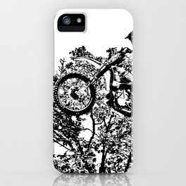 Stealing the Air - Freestyle Motocross Rider iPhone Case
