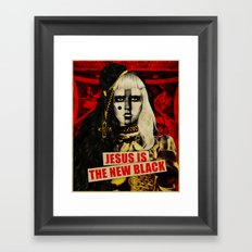 Jesus Is The New Black Framed Art Print