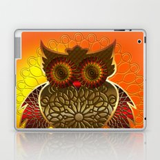 Ornament Eule - gold - orange Laptop & iPad Skin