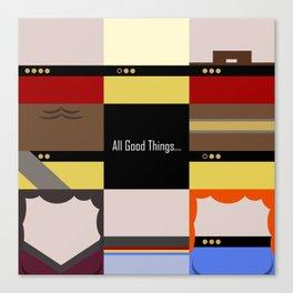 All Good Things - square Minimalist Star Trek TNG The Next Generation 1701 D  startrek  Trektangles Canvas Print