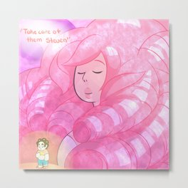 Rose Quartz Metal Print
