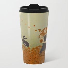 Poppy Field Metal Travel Mug