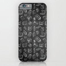 Classic Books - Pattern (Black) iPhone 6s Slim Case